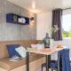 location porto vecchio 4 personnes camping mobil-home table