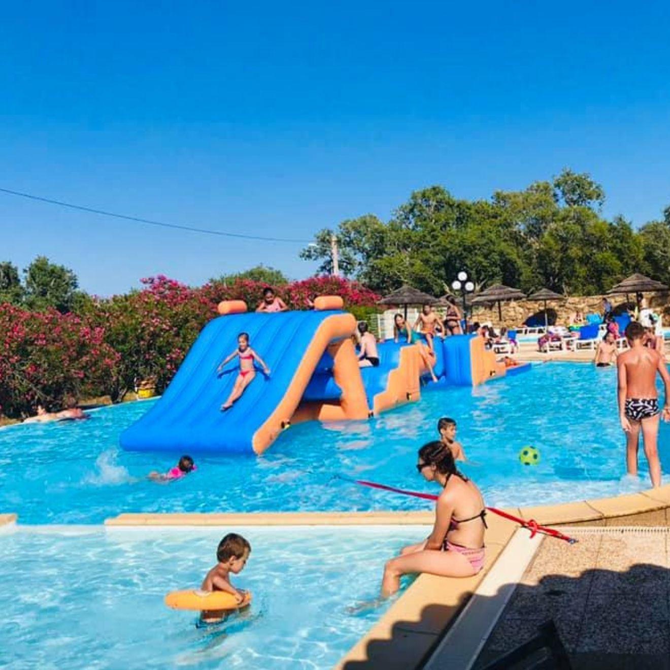location camping palombaggia u pirellu jeux d'eau