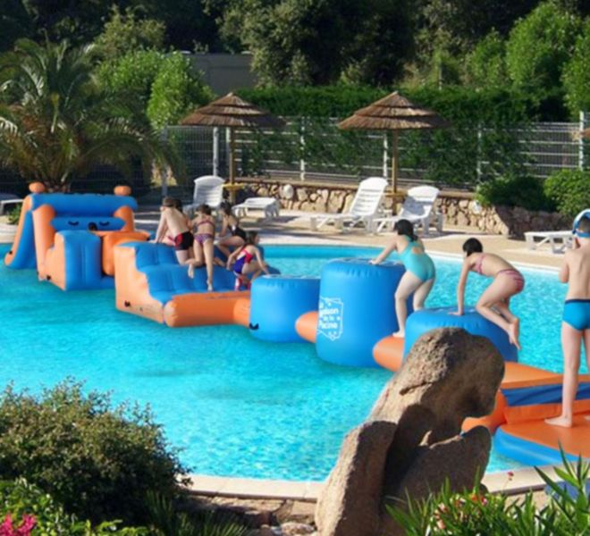 Location Mobil-Homes Camping Porto-Vecchio Palombaggia parcours gonflable